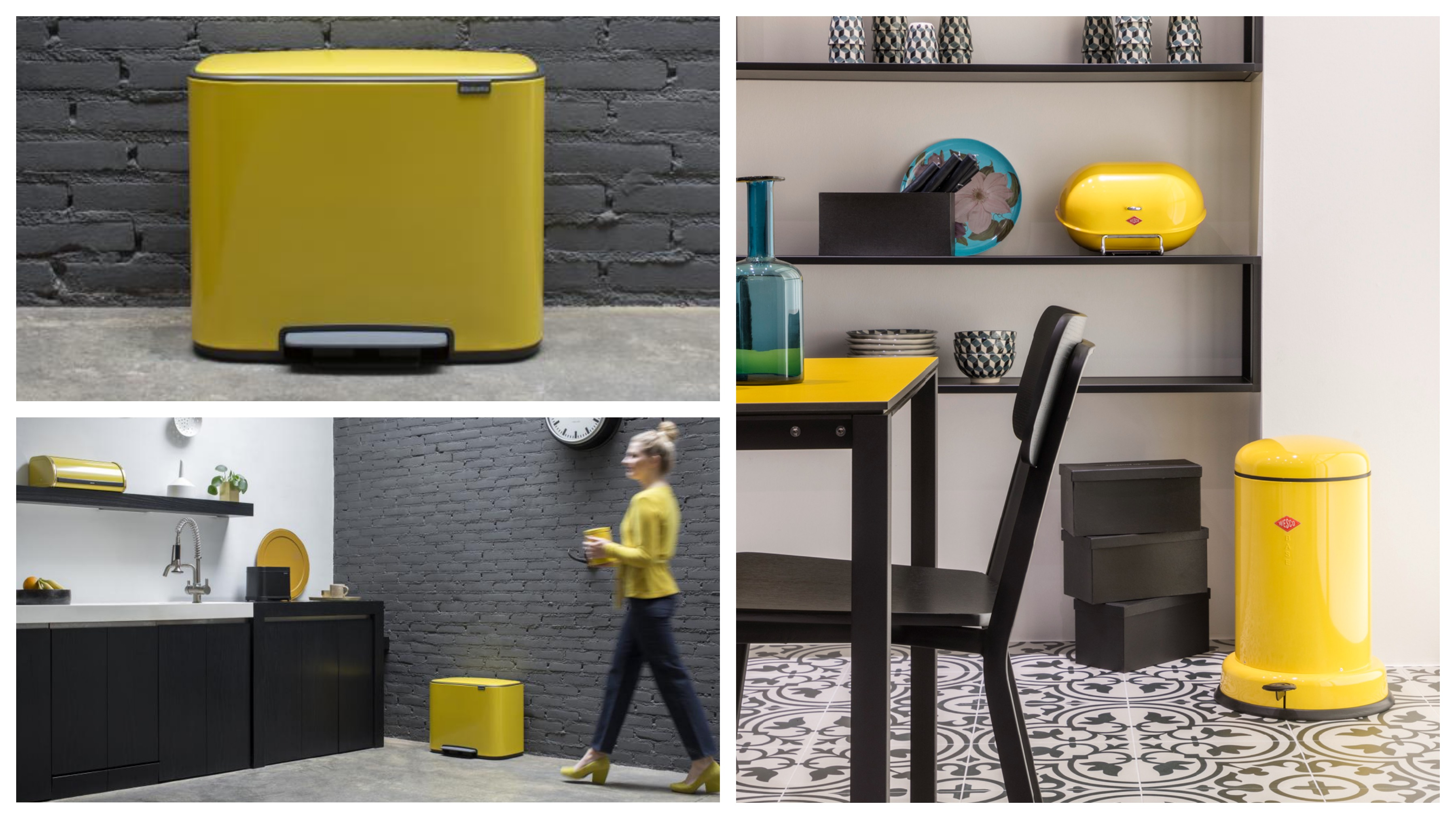 Bring the yellow trend into your kitchen with one of our yellow bins