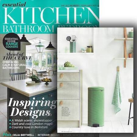 Green and Rose Gold Kitchen Bins