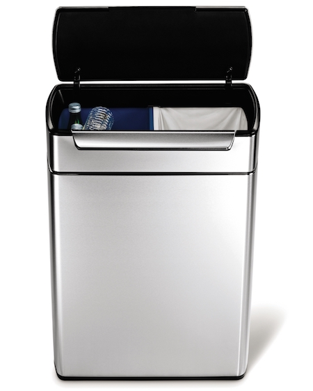 Simplehuman CW2018 Touch Bar Recycling Bin - BACK IN STOCK