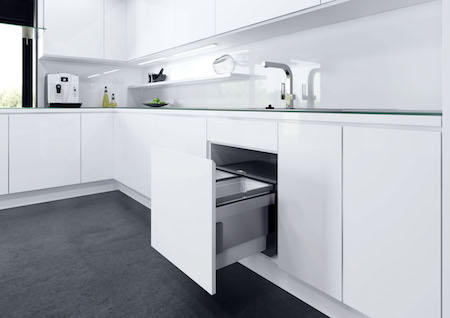 Built-in bins for 600mm cabinets