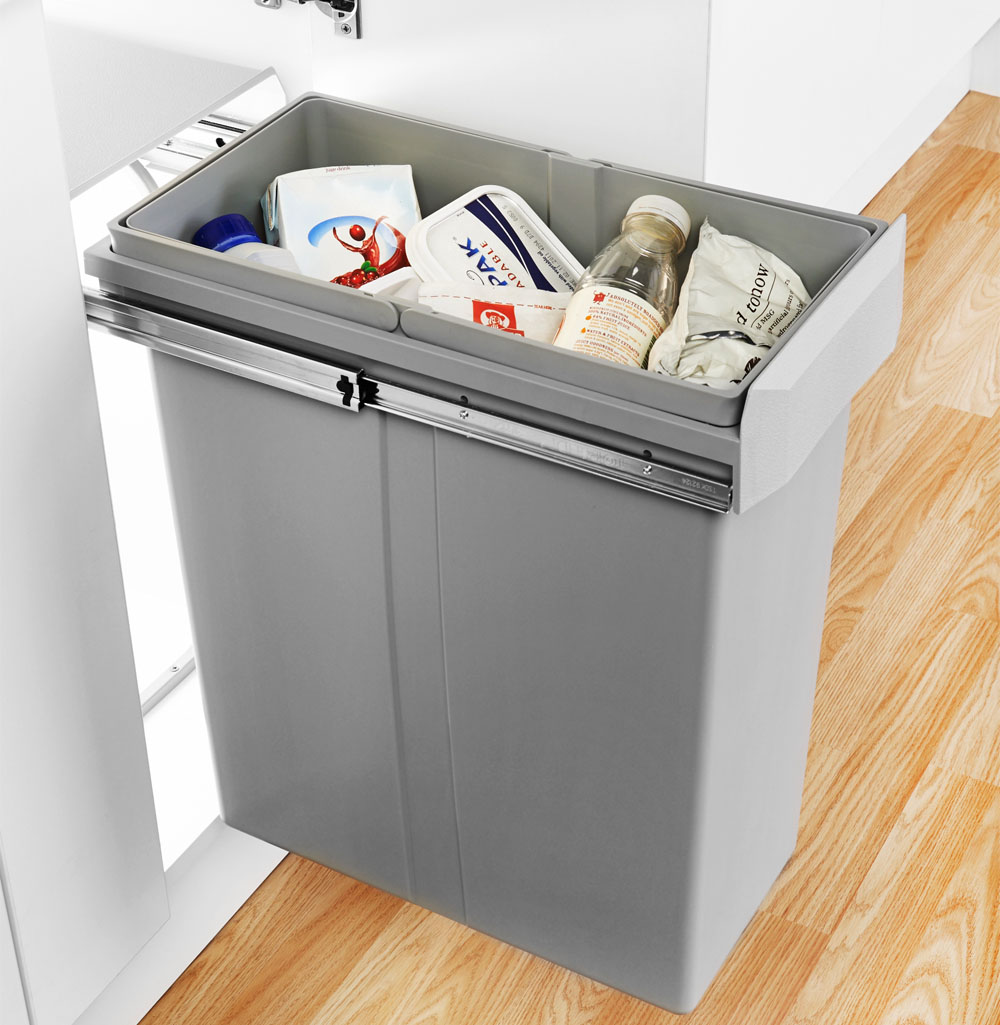 Great built-in kitchen bins for 300mm wide cabinets