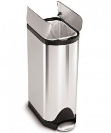 Single Compartment 30L Butterfly Pedal Bin Stainless Steel - CW1824