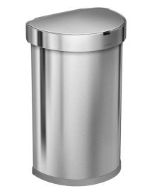 Semi-Round Single Compartment 45L Sensor Bin Stainless Steel - ST2009