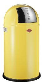 Pushboy Single Compartment 50L Kitchen Bin in Yellow: 175831-19