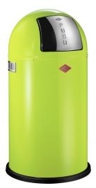 Pushboy Single Compartment 50L Kitchen Bin in Lime Green: 175831-20