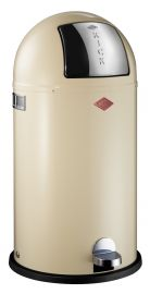 Kickboy Single Compartment 40 Litre Pedal Bin: Almond