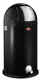 Kickboy Single Compartment 40 Litre Pedal Bin: Black