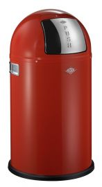 Pushboy Junior Single Compartment 22L Kitchen Bin Red 175531-02