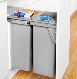 Bio Double 64L 2-Compartment Recycler 789WS611-85: 400mm Door