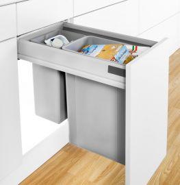 Pullboy-Z 36L 2-Compartment Recycler 827WS416-11: 400mm Door