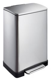 E-Cube Single Compartment 40L Pedal Bin - Stainless Steel - VB 926840 SS