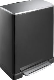 E-Cube Single Compartment 50L Pedal Bin- Black - VB 926850 BLK