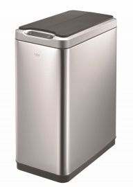 Slimline Sensor 2-Compartment Recycling Bin 40L Stainless Steel - 927VB740