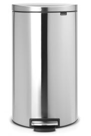 Flatback Single Compartment 30L Pedal Bin: Stainless Steel - 482007