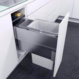 ES-Pro Single Compartment 33.2L In-cupboard Bin - Silver Grey : 300mm Door
