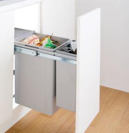 Bio Double 36L 2-Compartment Recycler 785WS801-85: 300mm Door