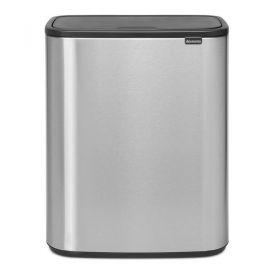 Bo Touch Single Compartment 60 Litre Kitchen Bin - Matt Fingerprint Proof Steel