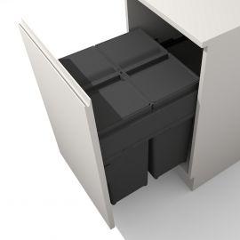 Linea 580 Plus 2 Compartment 80L Recycler : 500mm Door