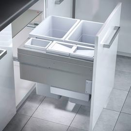 Euro Cargo 4 Compartment 90L Recycler Light Grey : 600mm Door