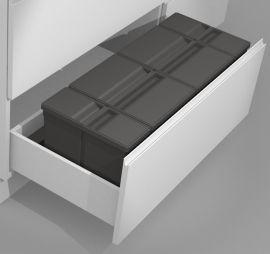 Sistema 9XL Drawer Based 58L Recycling Set : 1000mm Drawer