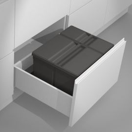 Sistema 9XL Drawer Based 29L Recycling Set : 600mm Drawer