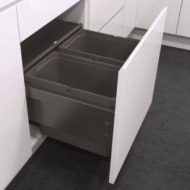 ES-Pro 2-Compartment 56L Recycler - Lava Grey : 600mm Door
