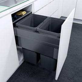 ES-Pro 2-Compartment 70L Recycler - Lava Grey: 450mm Door