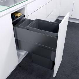 ES-Pro Single Compartment 33.2L In-cupboard Bin - Lava Grey : 300mm Door
