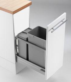 300AZ 36L 2-Compartment Recycling Bin - 787WS461-85: 300mm Door