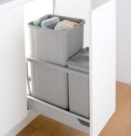 300AZ 42L 2-Compartment Recycling Bin - 787WS421-85: 300mm Door