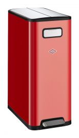 Big Double Master 2 Compartment Recycling Bin 40L - Red: 381511-02