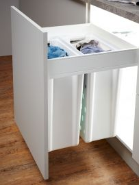 2 Compartment Built in Laundry Carrier 80L : 600mm Door