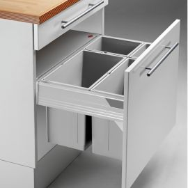 Pullboy-Z 72L 4-Compartment Recycler 827WS616-11: 600mm Door