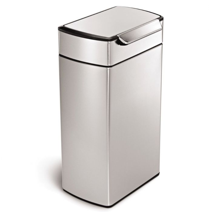 Single Compartment 40L Touch Bar Bin Stainless Steel - CW2014