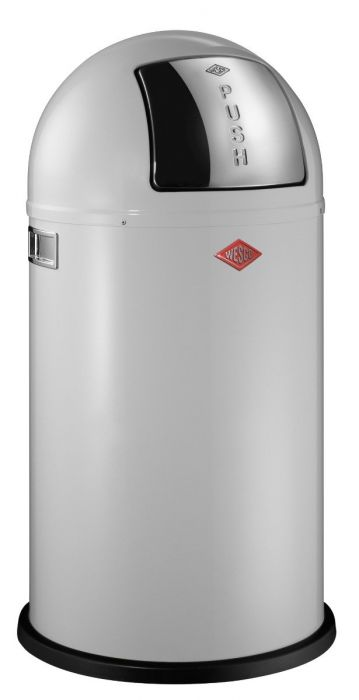 Pushboy Single Compartment 50L Kitchen Bin in White: 175831-01