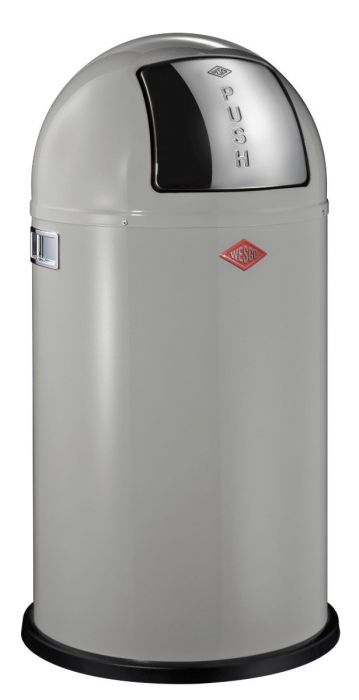 Pushboy Single Compartment 50L Kitchen Bin in Cool Grey: 175831-76