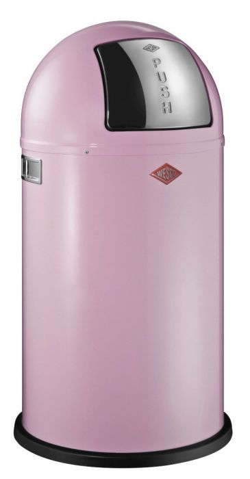 Pushboy Single Compartment 50L Kitchen Bin in Pink: 175831-26