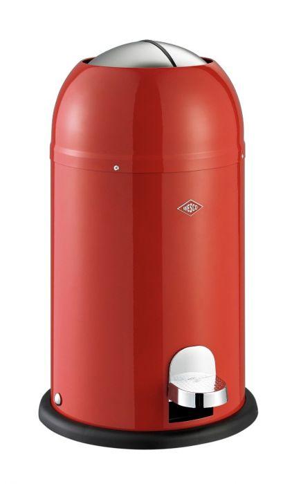 Kickmaster Junior Single Compartment 12L Kitchen Pedal Bin Red