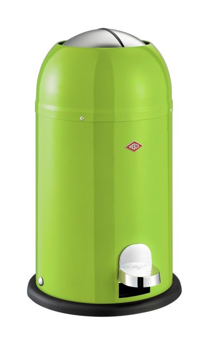 Kickmaster Junior Single Compartment 12L Kitchen Pedal Bin: Lime Green