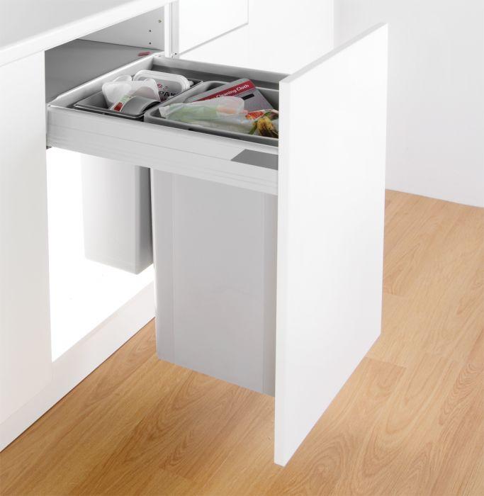 Pullboy-Z 42L 2-Compartment Recycler 827WS418-11: 400mm Door