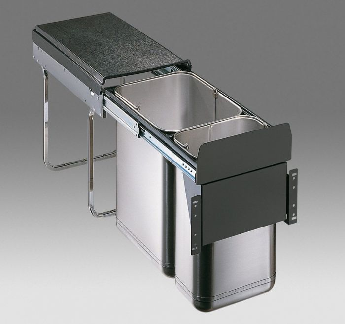 Master Stainless Steel 30L 2-Compartment Recycler 785WS304-42 : 300mm Door