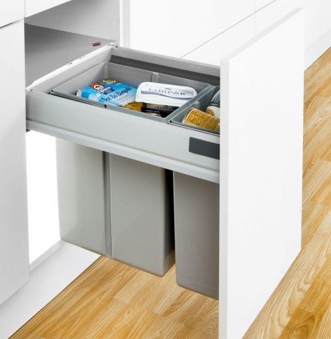 Pullboy-Z 30L 2-Compartment Recycler 827WS408-11: 400mm Door