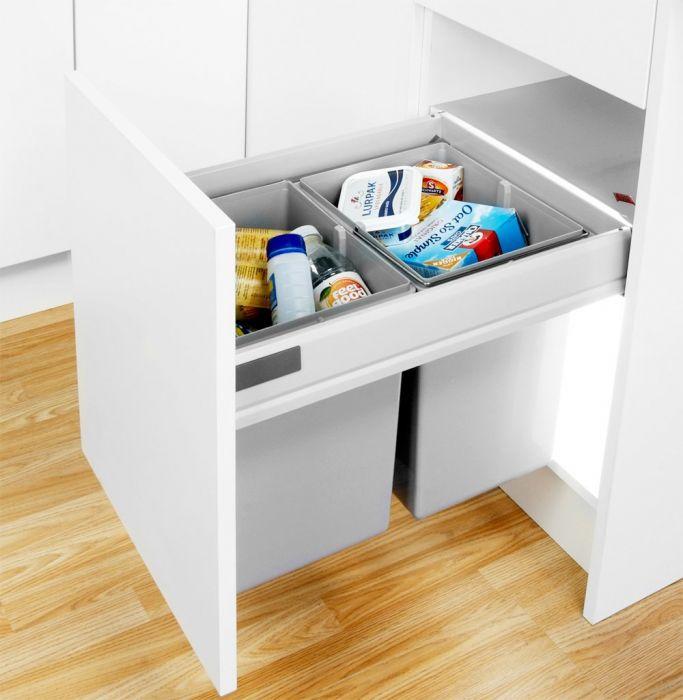 Pullboy-Z 40L 2-Compartment Recycler 827WS508-11: 500mm Door