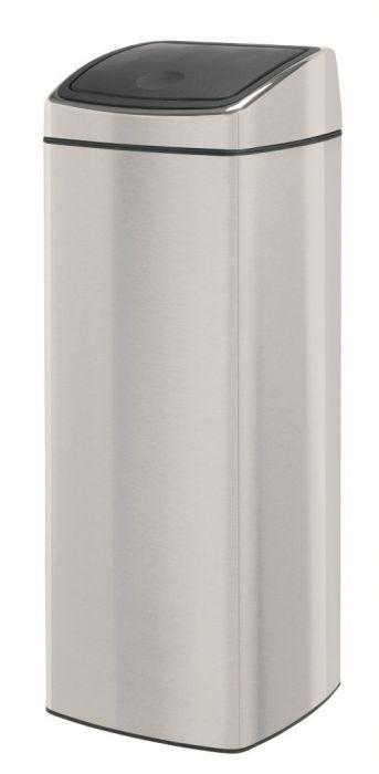 Rectangular Touch Single Compartment 25L Kitchen Bin Matt Steel - 384929