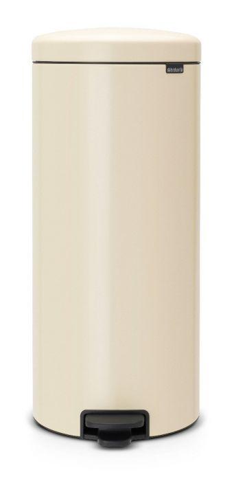 New Icon Single Compartment 30L Kitchen Pedal Bin - Almond - 114281