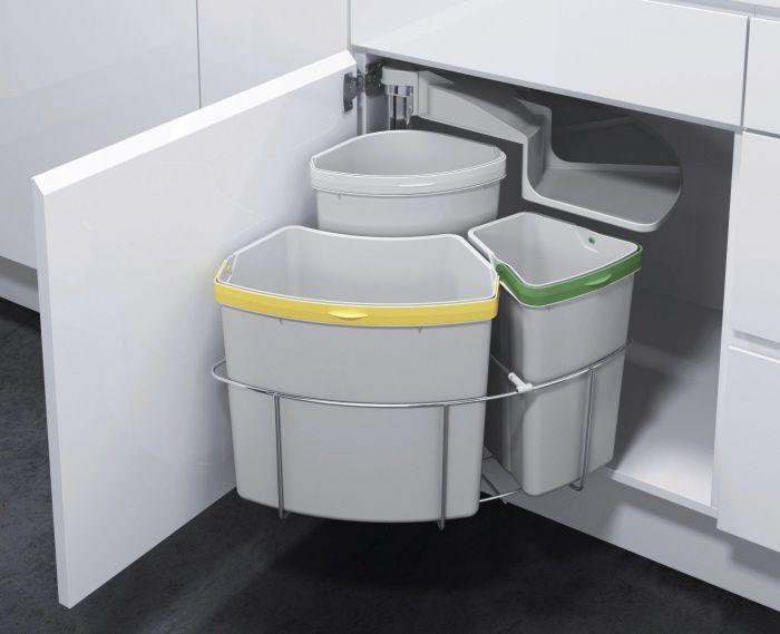 VS ENVI Centre 3 Compartment 39L Recycler: 500mm Door