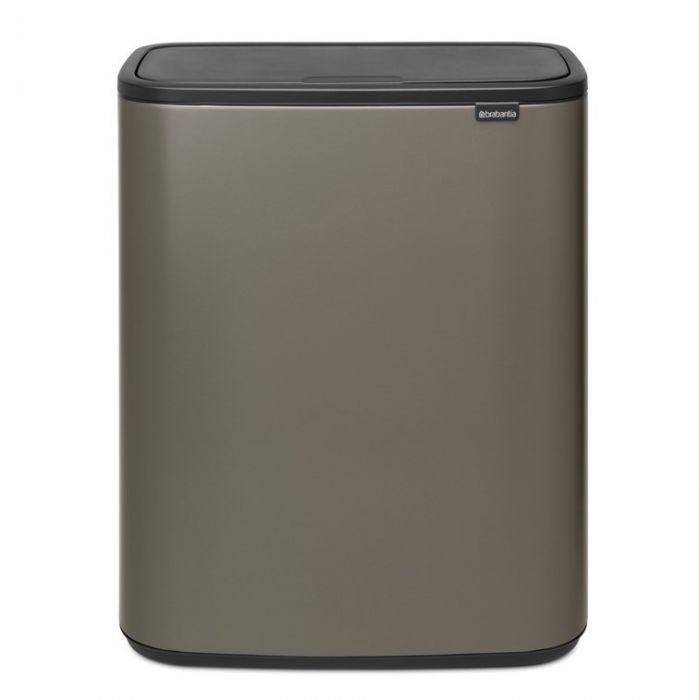 Bo Touch 60 Litre Single Compartment Bin - Platinum