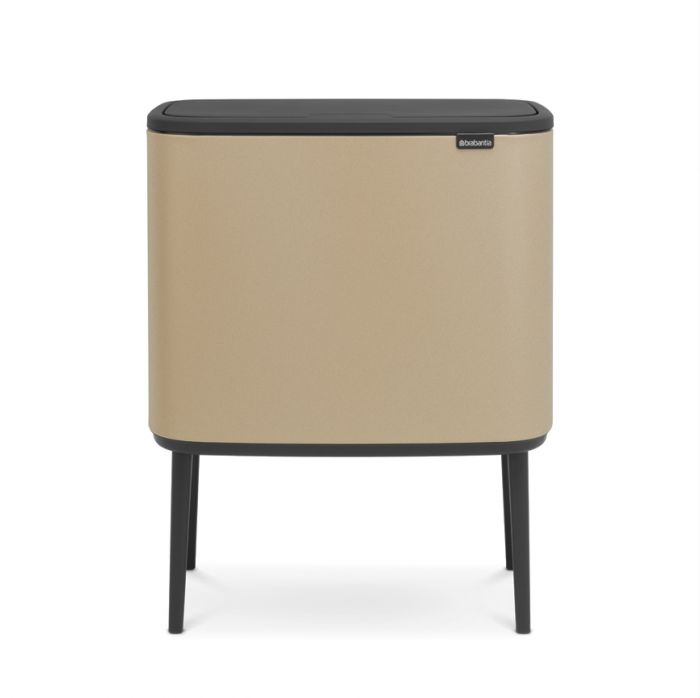 Bo Touch 2-Compartment 34L Kitchen Recycling Bin - Golden Beach