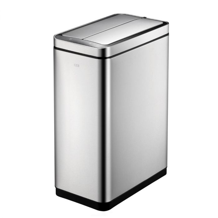 Deluxe Slimline Sensor 2-Compartment Recycling Bin 40L Stainless Steel - 928VB740