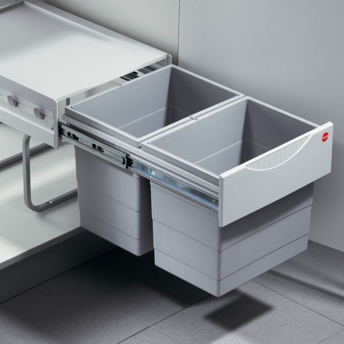Tandem 2 Compartment 36L Recycler: 400mm Door